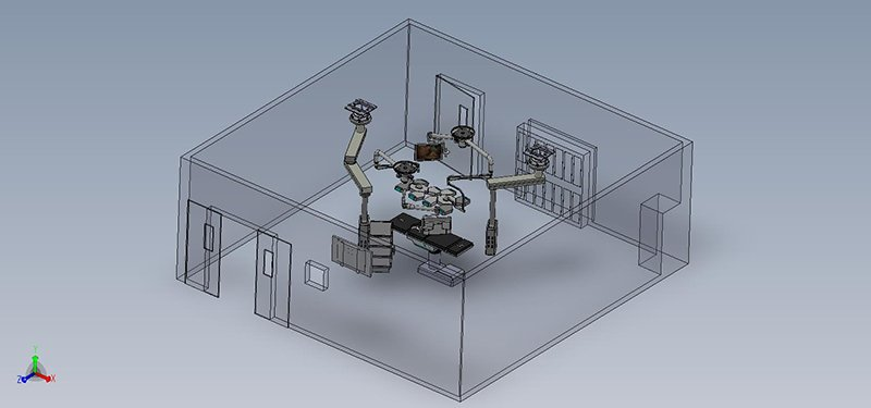 Solid Works eDrawing - Operating Room Layout - 1